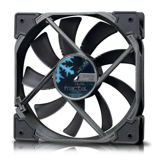 Fractal Design Venturi HF-12 12cm Case Fan, Fluid-Dynamic Bearing, Counter-balanced Magnet, 1400 RPM, Black