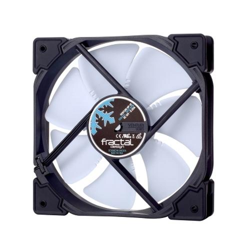 Fractal Design Venturi HP-12 PWM 12cm Case Fan, Fluid-Dynamic Bearing, Counter-balanced Magnet, 400-1800 RPM, Black/White