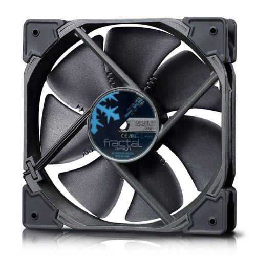 Fractal Design Venturi HP-12 PWM 12cm Case Fan, Fluid-Dynamic Bearing, Counter-balanced Magnet, 400-1800 RPM, Black