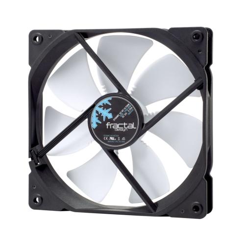 Fractal Design Dynamic X2 GP-14 PWM 14cm Case Fan, Long Life Sleeve Bearing, Counter-balanced Magnet, 1700 RPM, Black & White