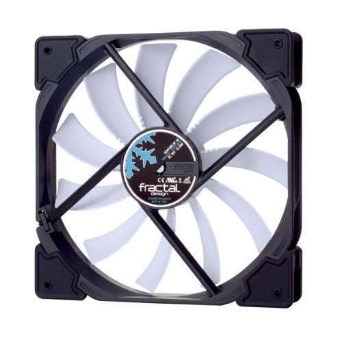 Fractal Design Venturi HF-14 14cm Case Fan, Fluid-Dynamic Bearing, Counter-balanced Magnet, 1200 RPM, Black/White