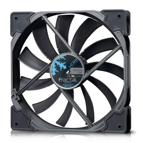 Fractal Design Venturi HF-14 14cm Case Fan, Fluid-Dynamic Bearing, Counter-balanced Magnet, 1200 RPM, Black