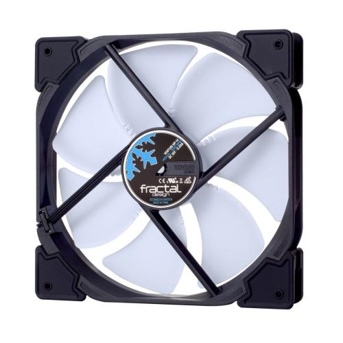 Fractal Design Venturi HP-14/PWM 14cm Case Fan, Fluid-Dynamic Bearing, Counter-balanced Magnet, 400-1500 RPM, Black/White