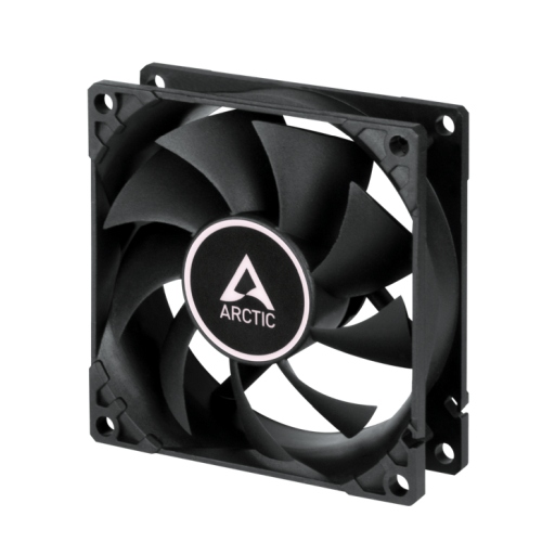 Arctic F8 PWM PST CO 8cm Case Fan for Continuous Operation, Black, 9 Blades, Dual Ball Bearing, 10 Year Warranty