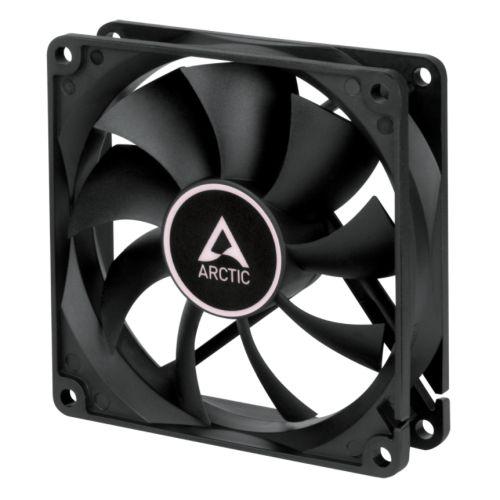 Arctic F9 9.2cm PWM PST Case Fan, Black, 9 Blades, Fluid Dynamic, 6 Year Warranty