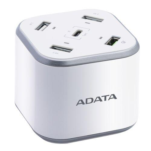 ADATA USB Charging Station - 3 x USB-A, 1 x USB-C, 1 x Qualcomm Quick Charge USB-A
