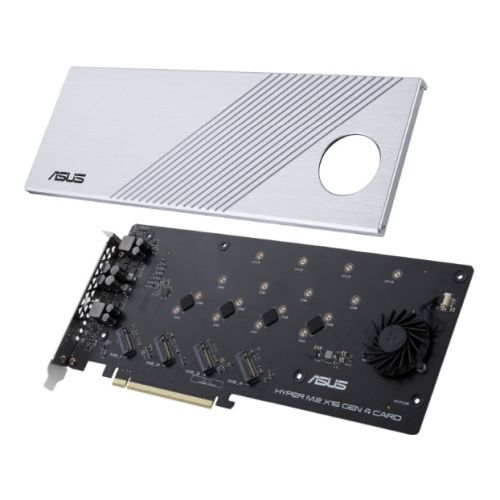 Asus Hyper M.2 x16 Gen 4 Card (PCIe 4.0/3.0), Supports four NVMe M.2 Devices & PCIe 4.0 NVMe RAID and Intel RAID-on-CPU