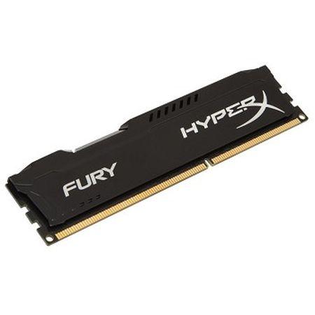 HyperX Fury Black 8GB, DDR3, 1600MHz (PC3-12800), CL10, DIMM Memory