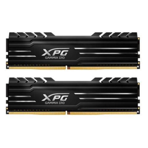 ADATA XPG GAMMIX D10 16GB Kit (2 x 8GB), DDR4, 2400MHz (PC4-19200), CL16, XMP 2.0, DIMM Memory, Low Profile