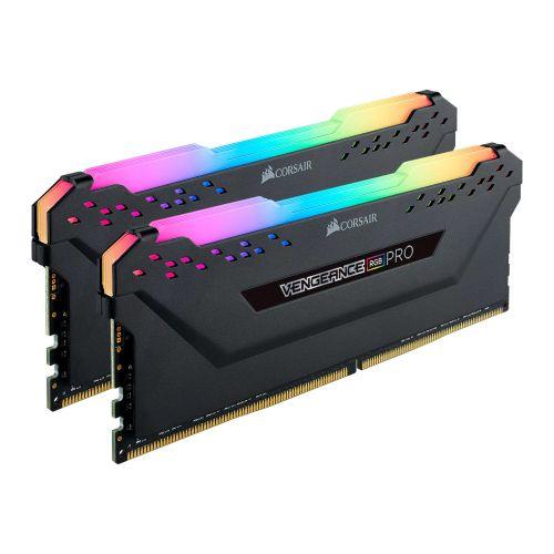 Corsair Vengeance RGB Pro 16GB Memory Kit (2 x 8GB), DDR4, 3600MHz (PC4-28800), CL18, XMP 2.0, Black
