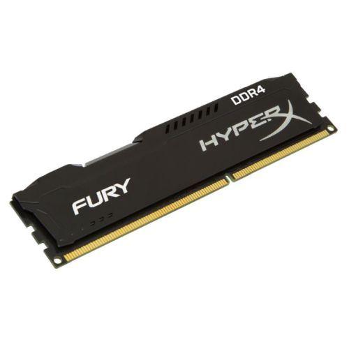 HyperX Fury Black 8GB, DDR4, 2666MHz (PC4-21330), CL16, XMP, DIMM Memory