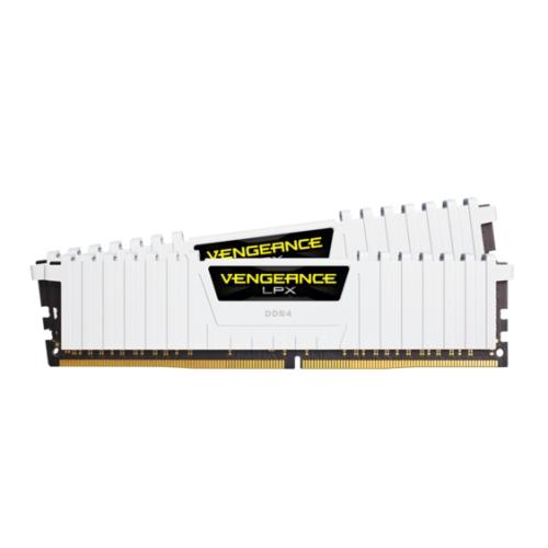 Corsair Vengeance LPX 16GB Kit (2 x 8GB), DDR4, 3200MHz (PC4-25600), CL16, XMP 2.0, Ryzen Optimised, DIMM Memory, White