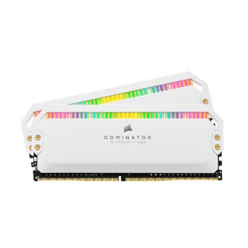 Corsair Dominator Platinum RGB 32GB Kit (2 x 16GB), DDR4, 3200MHz (PC4-25600), CL16, XMP 2.0, DIMM Memory, White