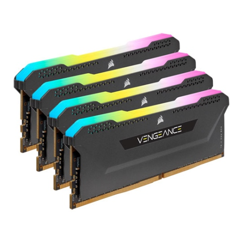 Corsair Vengeance RGB Pro SL 32B Memory Kit (4 x 8GB), DDR4, 3200MHz (PC4-25600), CL16, XMP 2.0, Black