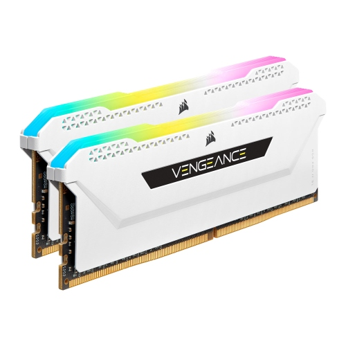 Corsair Vengeance RGB Pro SL 32GB Memory Kit (2 x 16GB), DDR4, 3600MHz (PC4-28800), CL18, XMP 2.0, White