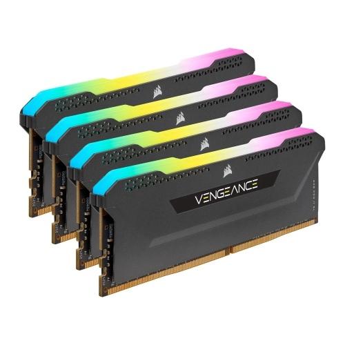 Corsair Vengeance RGB Pro SL 64GB Memory Kit (4 x 16GB), DDR4, 3600MHz (PC4-28800), CL18, XMP 2.0, Black