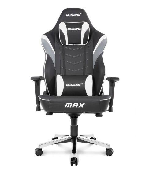 AKRacing Masters Series Max Gaming Chair, Black & White, 5/10 Year Warranty