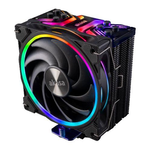 Akasa Soho H4 ARGB Heatsink & Fan, Intel & AMD Sockets, Hydro Dynamic PWM Fan, Optimised Footprint, 185W TDP