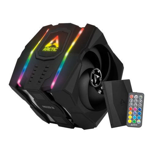 Arctic Freezer 50 Dual Tower ARGB Heatsink & Fan w/ RGB Controller, Intel & AMD Sockets, 6 Direct Touch Heatpipes, 120/140mm Fans, Fluid Dynamic Bearing