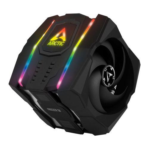 Arctic Freezer 50 Dual Tower ARGB Heatsink & Fan, Intel & AMD Sockets, 6 Direct Touch Heatpipes, 120/140mm Fans, Fluid Dynamic Bearing