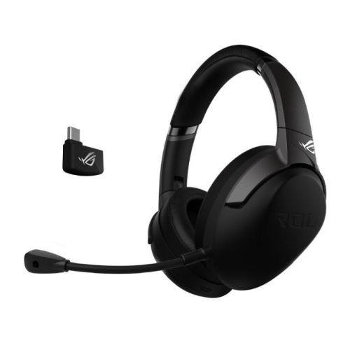 Asus ROG Strix Go 2.4 Wireless Gaming Headset, USB-C/3.5 mm Jack, AI Noise-Cancelling Mic, 25 Hour Battery Life