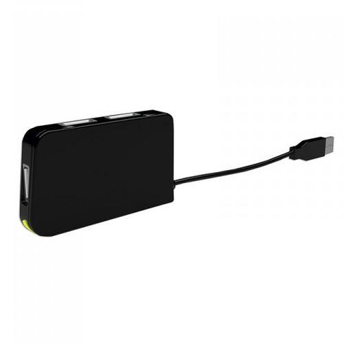 Approx (APPHT4BK) External 4-Port USB 2.0 Travel Hub, USB Powered, LED