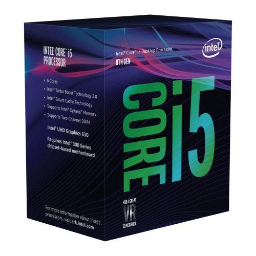 Intel Core i5-8600 CPU, 1151, 3.1 GHz (4.3 Turbo), 6-Core, 65W, 14nm, 9MB Cache, UHD GFX, Coffee Lake