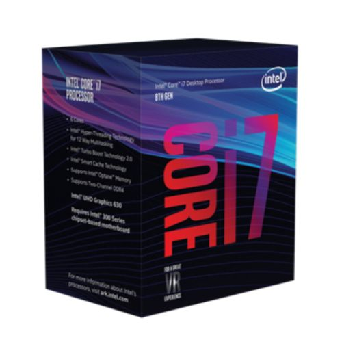Intel Core I7-8700 CPU, 1151, 3.2 GHz (4.6 Turbo), 6-Core, 65W, 14nm, 12MB Cache, UHD GFX, 8 GT/s, Coffee Lake