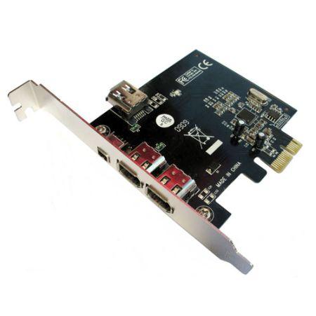 Dynamode (PCIX3FW) 3-Port FireWire Card, PCI Express, 2 x Ext, 1 x Int