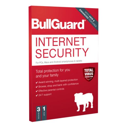 Bullguard Internet Security 2020 Retail 10 Pack - 10 x 3 User Licences - 1 Year - Pack, PC, Mac & Android