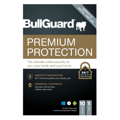 Bullguard Premium Protection 2021 Retail 10 Pack - 10 x 10 User Licences - 1 Year - PC, Mac & Android