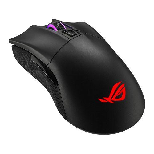 Asus ROG Gladius II Wireless/Bluetooth Gaming Mouse, 16000 DPI, Exclusive Switch Socket, RGB Lighting