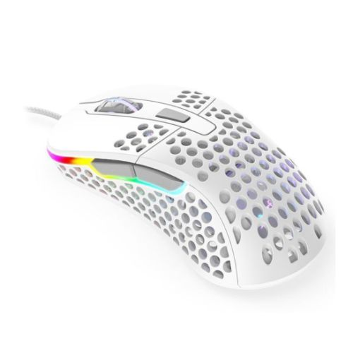 Xtrfy M4 RGB Wired Optical Gaming Mouse, USB, 400-16000 DPI, Omron Switches, 125-1000 Hz, Adjustable RGB, White