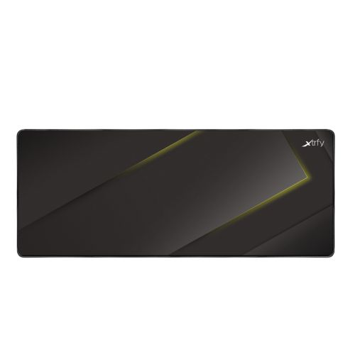 Xtrfy GP1 Extra Large Surface Gaming Mouse Pad, Black & Yellow, Cloth Surface, Washable, 920 x 360 x 2 mm