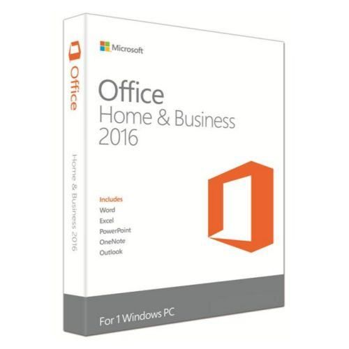 Microsoft Office 2016 Home & Business, PKC OEM, 1 Licence, Medialess
