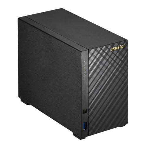ASUSTOR AS3102T V2 2-Bay NAS Enclosure (No Drives), Dual Core CPU, 2GB DDR3L, HDMI, USB3, Dual GB LAN, Diamond-Plate Finish