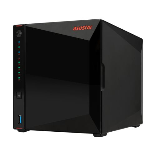 ASUSTOR NIMBUSTOR 4 (AS5304T) 4-Bay NAS Enclosure, Quad Core 2.5GHz CPU, 4GB DDR4, USB3.2, 2.5 GbE Ports, Diamond-cut Exterior