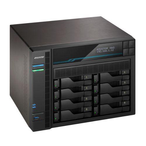 ASUSTOR AS6508T Lockerstor 8-Bay NAS Enclosure (No Drives), Quad Core CPU, 8GB DDR4, USB 3.2, 2 x 10G LAN, 2 x 2.5G LAN,  2 x M.2 NVMe