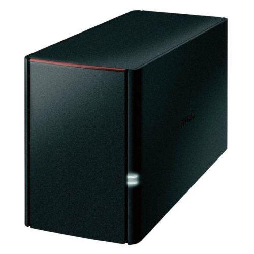 Buffalo 8TB LinkStation 220 NAS Drive, (2 x 4TB), RAID 0/1, GB LAN, NovaBACKUP, Built-in BitTorrent