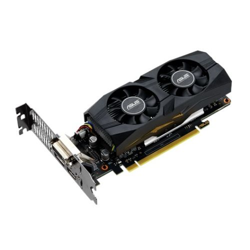 Asus GTX1650 OC, 4GB DDR5, DVI, HDMI, DP, 1740MHz Clock, Overclocked, Low Profile (Bracket Included)
