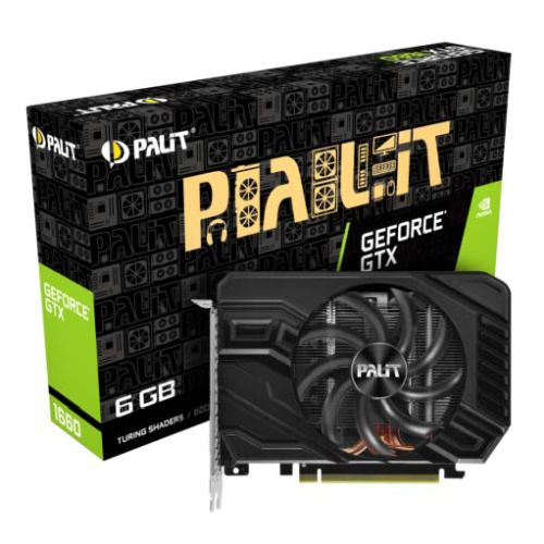 Palit GTX1660 StormX, 6GB DDR5, DVI, HDMI, DP, 1785MHz Clock, Compact Design