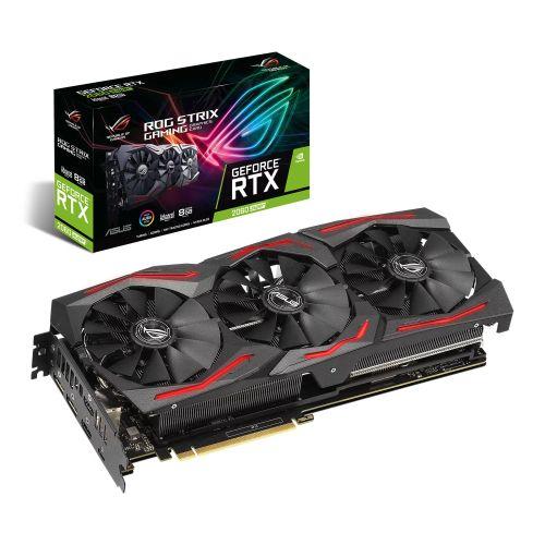 Asus ROG STRIX RTX2060 SUPER Advanced, 8GB DDR6, 2 HDMI, 2 DP, USB-C, 1710MHz Clock, 0dB Tech, RGB Lighting