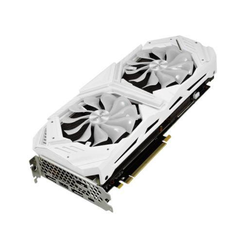 Palit RTX2080 SUPER White GameRock, 8GB DDR6, HDMI, 3 DP, USB-C, 1830MHz Clock, NVLink, 0-dB Tech, RGB Lighting