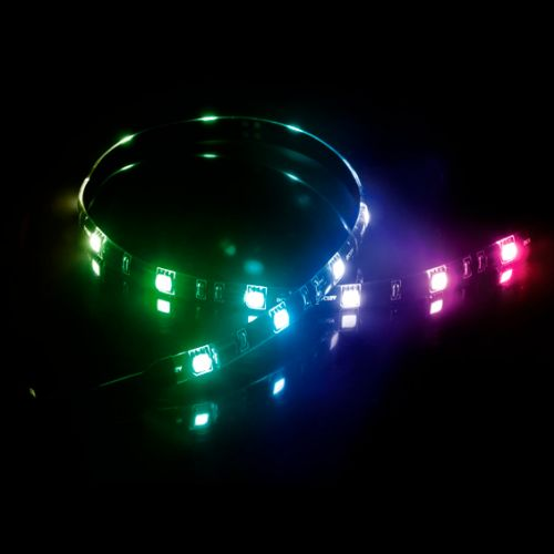 Akasa Vegas MB RGB LED Light Strip, 50cm, 12V, Molex 4 Pin, Magnetic Backing, Aura Sync Compatible