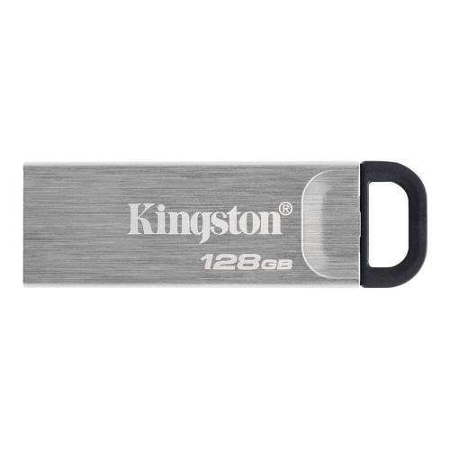 Kingston 128GB USB 3.2 Gen1 Memory Pen, DataTraveler Kyson, Metal Capless Design, R/W 200/60 MB/s