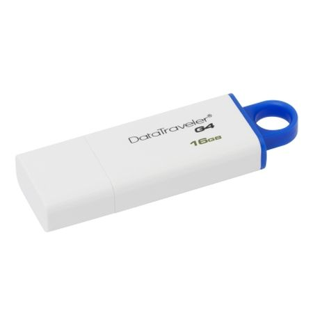 Kingston 16GB USB 3.0 Memory Pen, DataTraveler G4, White/Blue, Lid