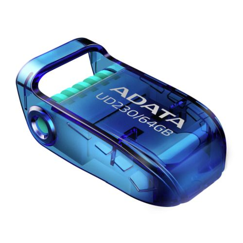 ADATA UD230 64GB USB 2.0 Memory Pen, Capless, Foldable, Dust, Water & Shock Resistant
