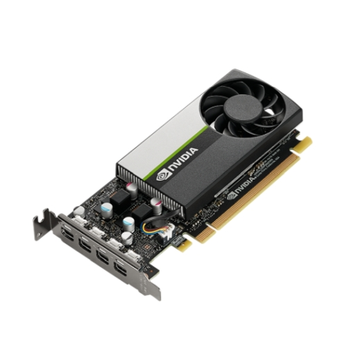 PNY NVidia T600 Professional Graphics Card, 4GB DDR6, 4 miniDP 1.4 (4 x DP adapters), Low Profile (Bracket Included)