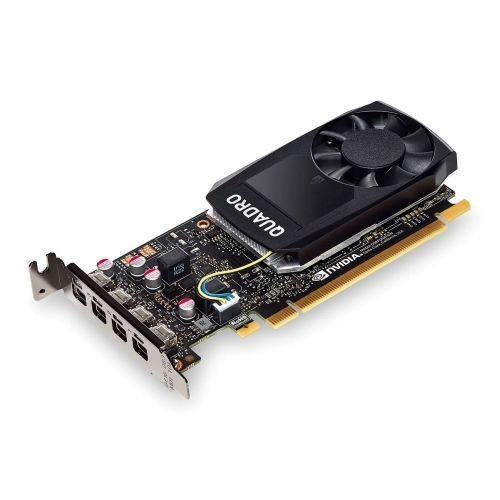 PNY Quadro P1000 Professional Graphics Card, 4GB DDR5, 4 miniDP 1.2 (4 x DVI adapters), Low Profile (Bracket Included)