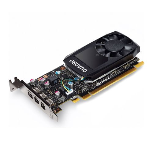 PNY Quadro P400 V2 Professional Graphics Card, 2GB DDR5, 3 miniDP 1.4 (1 x DVI & 3 x DP adapters), Low Profile (Bracket Included)